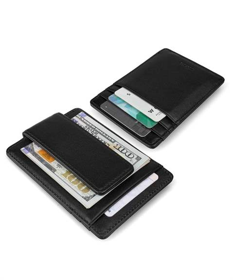 Strong Magnetic money clip for 6 credit cards and room for cash.Black