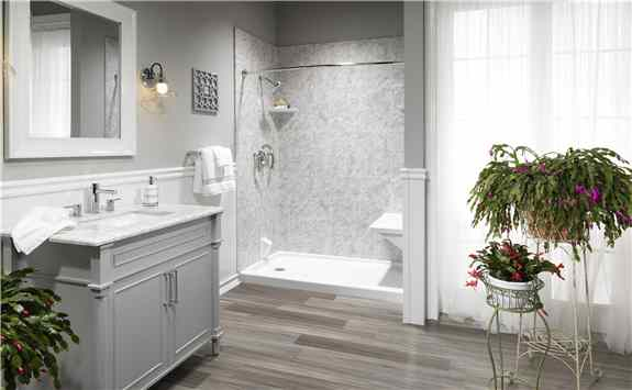 Shower replacements and Tub to shower conversions by L.J. Stone Company