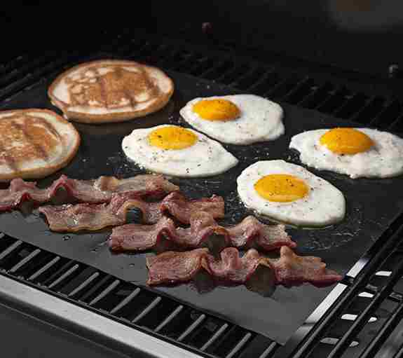 Breakfast on the grill? With our non-stick, reusable, dishwasher safe GrillMats, anything is possible.