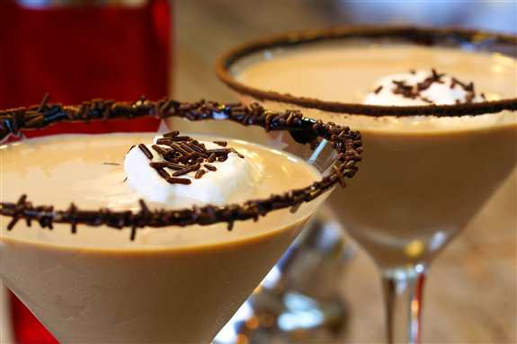 Chocolate Martini Wine Frappe - so many options with this.  If you like any thing chocolate flavored use that flavored vodka like strawberry vodka for a chocolate strawberry or you can even make one of my favorites as a spiked hot chocolate!