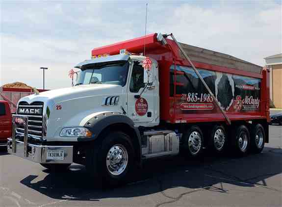 McCarty Mulch & Stone owns and operates our own fleet of delivery trucks to service our customers in and around Central Indiana promptly and efficiently.