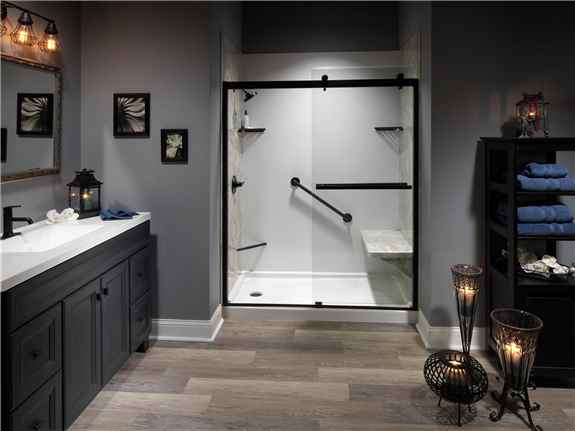 Walk in Shower installation by L.J. Stone Company